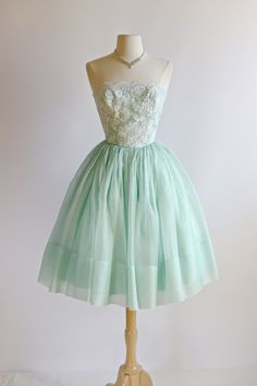 Vintage 1950's Prom Dress  Vintage 50s Lace Party by xtabayvintage