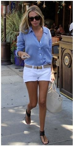 50 beste Sommer-Outfits mit Denim-Shorts – Page 21 of 69 – 50 beste Sommeroutfits mit Jeansshorts Mode Outfits, Casual Outfits, Fashion Outfits, Denim Outfits, Beach Outfits, Fashion Ideas, Fashion Hacks, Casual Jeans, White Short Outfits