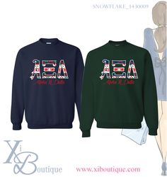 Custom holiday sweatshirt from Xi Boutique! Email custom@xiboutique.com to learn more.