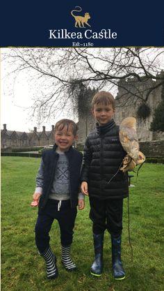 Falconry isn't just a sport for Kings! Children visiting Kilkea Castle also enjoy this activity! #irishcastle #castle #falconry #luxuryhotel #visitireland #exploreireland #ireland #irelandsancienteast  Info@kilkeacastle.ie