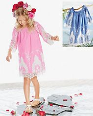 girls pastel wisteria eyelet dress