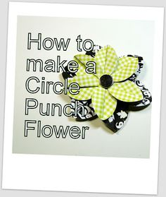 Tutorial on how to make this circle punch flower. Enjoy.