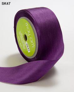 May Arts Ribbon 1.25 Inch Woven Stripes Ribbon 25 yd Natural//Burgundy