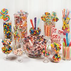 Colorful New Year's Eve Candy Buffet - OrientalTrading.com