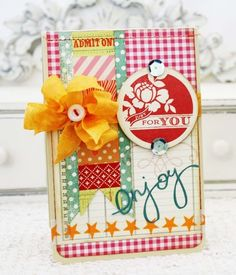 Lilybean's Paperie card  - Beautiful colors!