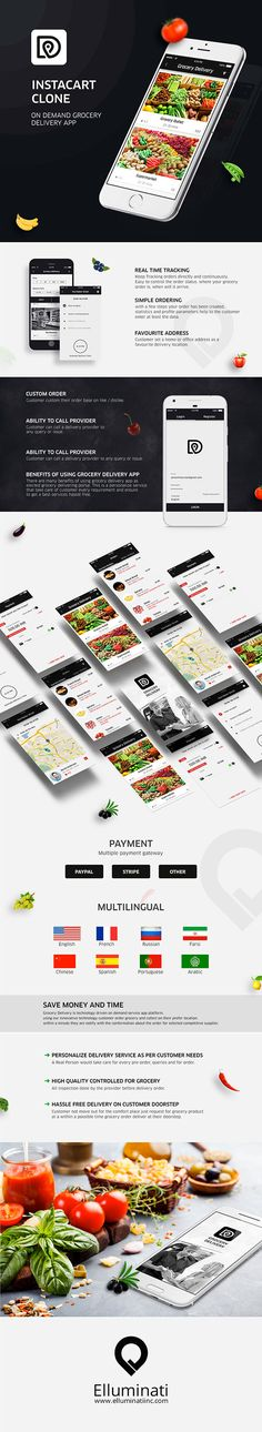 Create your very own grocery delivery app like instacart with Elluminatiinc.