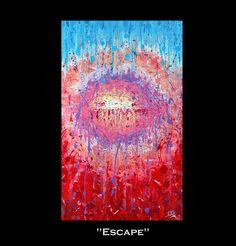 #Artfinder #Original #Contemporary #RichTexture #Abstract #Painting #Escape