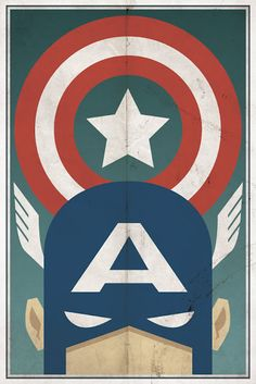 Captain America and some other super heroes in one of favorite art styles.