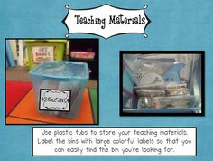 Classroom organization tips from Deanna Jump with giggles sprinkled in!