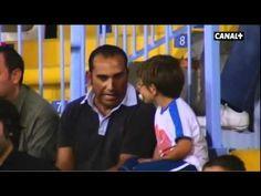 Las cosas que tiene el fútbol... Hay para todos. Esta vez, papá e hijo por primera vez en el estadio :)