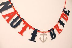 Nauti Bride Banner / Nautical / Bachelorette / by BurlapPaperSack