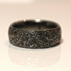 Unique Wedding Bands, Wedding Band Sets, Wedding Rings, Wood Texture, Black Gold, Rings For Men, Lovers, Engagement Rings, Jewels