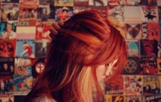 Fiery effect of blonde lowlights on bold red hair