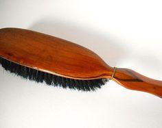 Vintage Wooden Shoe Brush - Detailed Handle