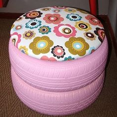 Who knew that old tyres can be turned into furniture that's both pretty and pracitcal?
