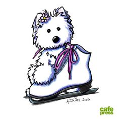 Design of the Day 1/11/2013 - Awww… the doggie wants to go skating too.