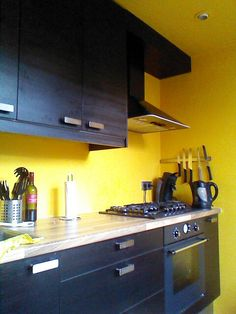 Black And Yellow Kitchen