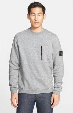 Stone Island Raglan Sleeve Pocket Sweatshirt
