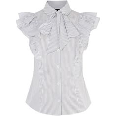 PUSSY-BOW FRILL SHIRT (770 RON) ❤ liked on Polyvore featuring tops, blouses, holiday shirts, white frilly blouse, white frilly shirt, shirt blouse and white ruffle top