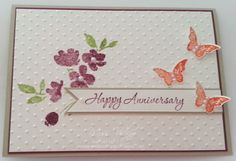 Anniversary Card Stamp Sets - Kinda Eclectric, Memorable Moments, Painted Petals Occasions Catalogue 2015 Stampin' Up!