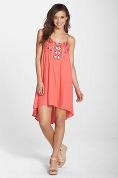 'Kase' Embroidered High/Low A-Line Dress by BB Dakota on @nordstrom_rack