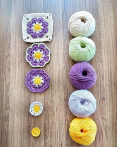 Best 12 Crochet Tools – How to Crochet the Spiral Crochet Flower – SkillOfKing. Granny Square Crochet Pattern, Crochet Squares, Crochet Motif, Diy Crochet, Crochet Crafts, Yarn Crafts, Crochet Baby, Crochet Projects, Granny Squares