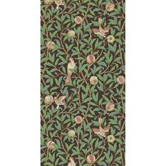 Morris & Co. Bird & Pomegranate   Perigold Foyer Wallpaper, Print Wallpaper, Wallpaper Roll, The Strawberry Thief, Morris Wallpapers, Pomegranate Fruit, Red Olive, Subtle Textures, Holiday Sales