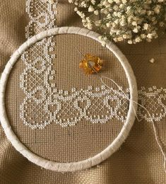 Günaydınnnnnnnn🦋🎶💕 Yapmalara doyamadığım....Dantel💕 #crossstichland #crosstichland #crossstitch #lace #handmade #elişi #çarpıişi…