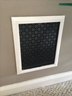 I replaced my old heat register covers by taking an picture frame, and putting in decorative tin that I got from Home Depot. Home Improvement Projects, Home Projects, Home Renovation, Home Remodeling, Register Covers, Expensive Houses, Do It Yourself Home, Home Repair, My Living Room