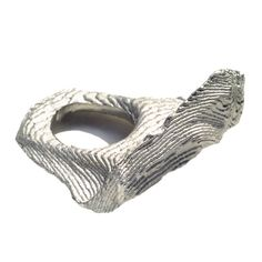 Ute Decker - emotional topography ring cast, matt individually hand-cast in recycled silver Geek Jewelry, Jewelry Art, Fine Jewelry, Jewelry Design, Gothic Jewelry, Designer Jewelry, Indian Jewelry, Jewelry Necklaces, Stylish Jewelry
