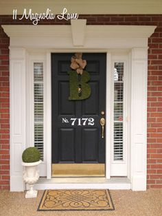 Fantastic pin about decorating by a military wife ( love the vinyl numbers on the door!)