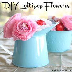 DIY lollipop flowers: an easy, step by step photo tutorial! : DIY lollipop flowers: an easy, step by step photo tutorial! Homemade Valentines, Valentine Day Crafts, Be My Valentine, Holiday Crafts, Holiday Fun, Festive, Craft Gifts, Diy Gifts, Cute Crafts