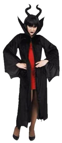 Dr Tom's Dark Queen Cape with Headband Halloween Dress Up Party Costume…