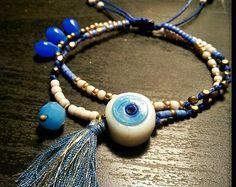 Macrame double beaded bracelet/macrame beaded bracelet/evil eye/Adjustable/Beaded bracelets with evil eye/Boho bracelets/fashion bracelets Evil Eye, Fashion Bracelets, Macrame, Etsy Seller, Beaded Bracelets, Boho, Unique, Jewelry, Jewellery Making
