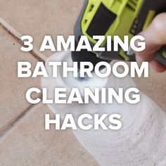 3 Best Bathroom Cleaning Tricks #cleaning #hacks #organize #DIY
