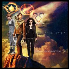 Multi-fandom love: Divergent (Tris), The Hunger Games (Katniss), and The Mortal Instruments (Clary) <3