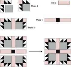 bear's paw quilt block pattern