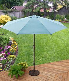 Better Homes & Gardens 9' Market Umbrella, Aqua