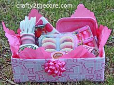 ~Meal Box~ A creative idea for taking a meal to someone. Change it up for a new baby, illness, death in the family, etc.~ by Crafty 2 the Co...