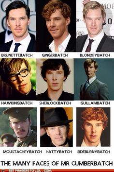 The many faces of cumberbatch lol