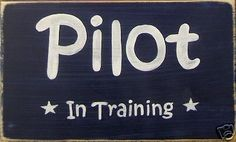 PILOT IN TRAINING Airplane Room Decor Sign AVIATION Air Force Flight Plaque in Home & Garden | eBay