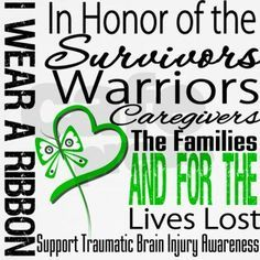 traumatic brain injury - support & awareness  If you havent been there....You just done know how this affects your life, family and friends....Kelly