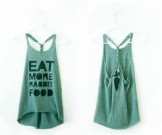 DIY Workout Shirt    Turn your old T into a sexy little racerback!