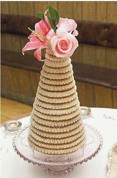 Kransekake - a traditional Norweigian wedding cake.