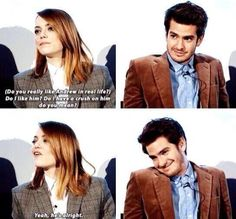 how can you not ship them?! emdrew stonefield aka perfection (emma stone and andrew garfield)