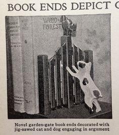 Six book end and bookshelf projects from the 1940s.