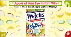 Instant Win Game Welch's Fruit Snacks Apple of Your Eye - See more at: https://www.freebcd.com/freebie/instant-win-game-welchs-fruit-snacks-apple-of-your-eye/#sthash.RLbYmcew.dpuf