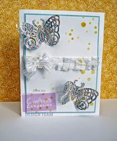 By Dana Joy. Die'sire Classiques Spring/Summer - Ornate Butterfly.  For Crafter's Companion.  @CraftersCompUS