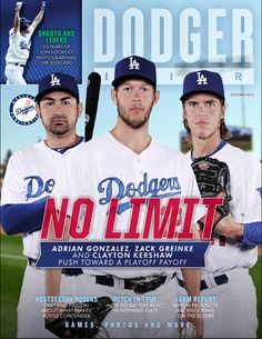 October issue of Dodger Insider magazine   **   Dodgers Blue Heaven: Blog Kiosk: 10/2/2015 - Dodger Links - Ethier, Puig and AJ Ellis