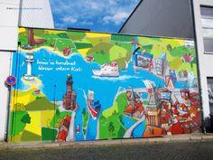 Street art Baltic Sea, Nerf, Aquarium, Street Art, Adventure, Mai, Painting, Kiel, Art